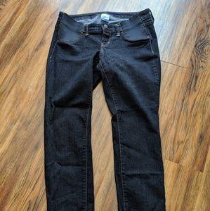 Old Navy side panel skinny maternity jeans